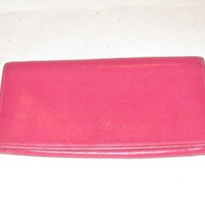 Longchamp Hot Pink Leather Clutch Wallet